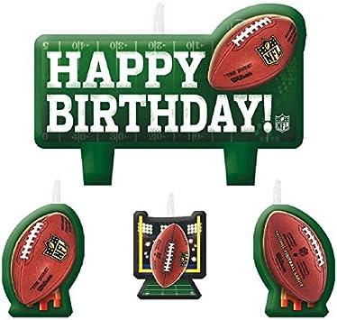 Amazon.com: NFL Drive - Vela de cumpleaños moldeada para ...