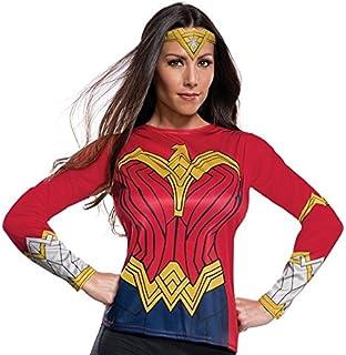 Rubies Justice League Womens Wonder Woman Costume Top  sc 1 st  Amazon.com & Amazon.com: Rubieu0027s Justice League Childu0027s Wonder Woman Costume Top ...