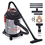 Wet Dry Vacuum, 5 Gallon, 5.5 Peak HP, 1000W Stainless Steel...