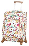 Lily Bloom Luggage Carry On Expandable Design Pattern Suitcase For Woman With Spinner Wheels (Twitty Twig, 20in)