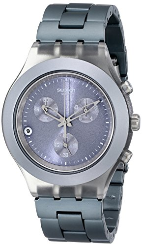 - Swatch Men's SVCM4007AG Plastic Analog with Grey Dial Watch