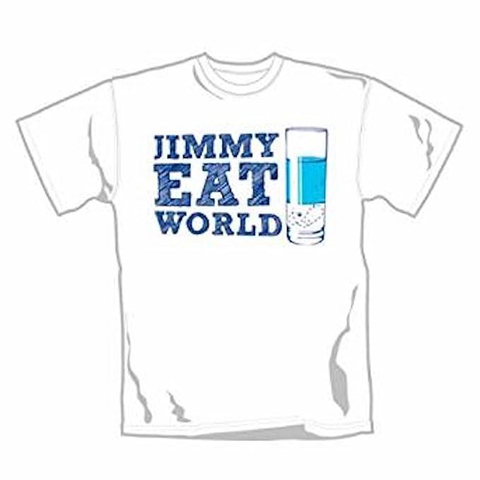 Jim My comer MUNDO - CRISTAL - Camiseta Oficial Hombre - Blanco, X-Large
