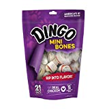 Dingo Non-China Mini Rawhide Bones for Small/Toy Dogs, 21-Count