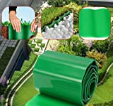 9m Plastic Flexible Garden Grass Fence Path Lawn Edging Green Edge Gravel Border by AdvancedShop