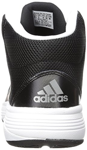 Scarpa Da Basket Adidas Neo Uomo Cloudfoam Ilation Mid Nero / Argento Opaco / Bianco