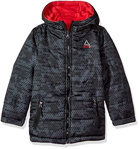 Reebok Toddler Boys' Active Outerwear Jacket (More Styles Available), Reversible Red/Black, (Reversible Kids Nylon Jacket)