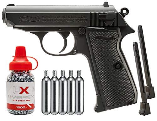 Wearable4U Umarex Walther PPK/S CO2 Blowback Air Pistol BB Airgun Bundle