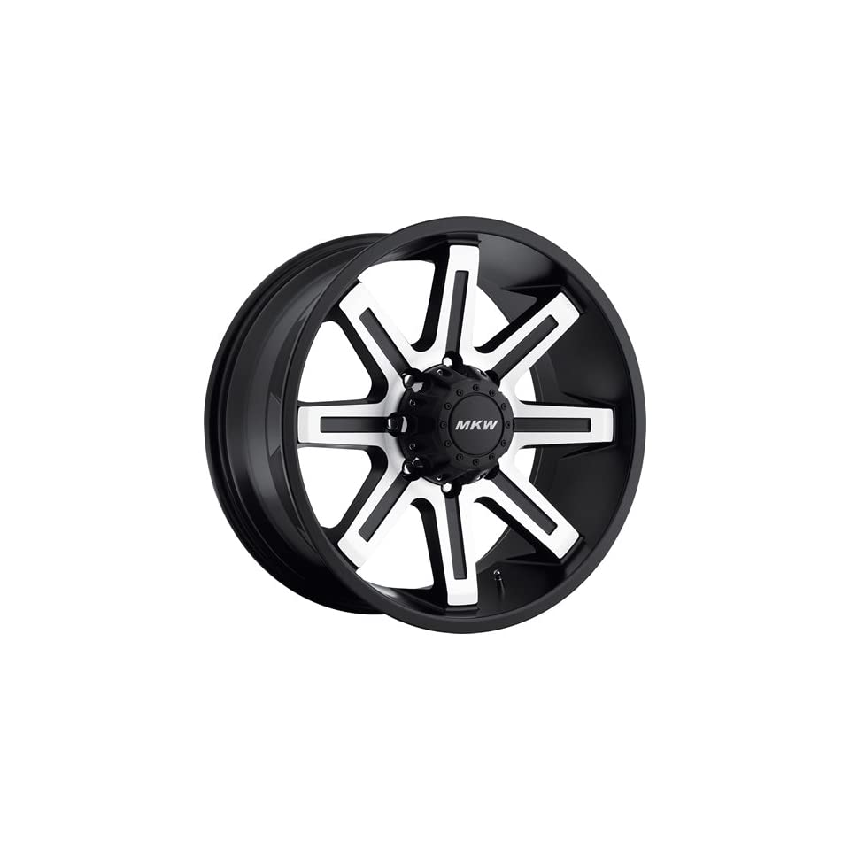 MKW Offroad M88 17 Black Machined Wheel / Rim 8x6.5 with a 10mm Offset and a 130.80 Hub Bore. Partnumber M88 1790816510B