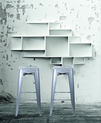Gia Gray 30 Quot Metal Stool Set Of 2 Bar Height Square