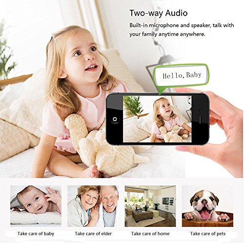 Funxwe 1080P WiFi Wireless IP Camera Pan/Tilt PTZ Security Surveillance 2.0 Megapixels Two-way Audio Baby Monitor Webcam with SD Card Slot by Funxwe (Image #4)