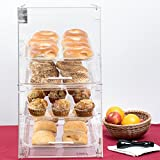 Premier Choice 4 Tray Bakery Display Case with Doors Length: 24'' X Width: 14 Inches''x Height: 24 Inches