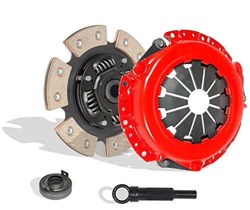 Clutch Kit Works With Mitsubishi Hyundai Plymouth Eagle Dodge LS Es De Dl Base 1987-2002 1.8L l4 GAS SOHC Naturally Aspirated (6-Puck Disc Stage 3; Flywheel Spec: Flat; From 12/86; Hydraulic Linkage)