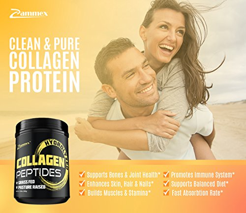 4 Premium Hydrolyzed Collagen Peptides Cattle%EF%BD%9CUnflavored