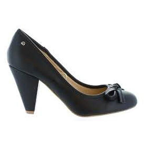 Mustang Tacon Bata Negro Y 37 es Zapatos talla Zapato Amazon r1FwSr