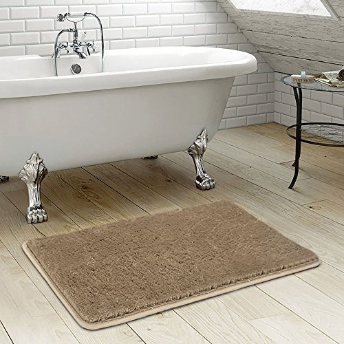Shaggy Bathroom Rug, Uphome Microfiber Non-slip Soft Absorbent Foam Mat Bath Runner Bathroom Floor Mat Carpet (20