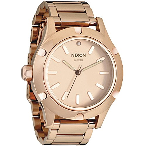 Nixon Camden Champagne Dial Stainless Steel Ladies Watch A34389700
