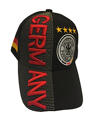 Baseball Caps Hats with Five 3D Embroideries - Countries of Europe (Country: Germany)