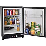 SMETA 2.1 cu ft Mini Portable Gas Refrigerator 110V 12V Electric Absorption Propane Bar Cooler Reversible Door Hotel Fridge,Black