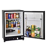 SMETA 2.1 cu ft Portable Gas Refrigerator 110V 12V Electric Absorption Propane Bar Cooler ,Black