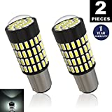 (US) LUYED 2 X 1700 Lumens Extremely Bright 1157 4014 102-EX Chipsets 1157 2057 2357 7528LED Bulbs,Xenon White(Brightest LED in market)