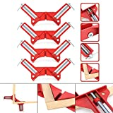 chengsale 4Pcs 90 Degrees Right Angle Clamp 100mm Corner Clamp Picture Holder Woodworking Holder