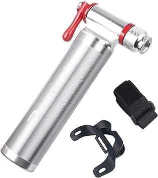 KuaiKeSport Bombas de Marco,Portátil Mini Bomba de Neumático de Bicicleta de Aleación de Aluminio sin Hilo CO2 Bola de Emergencia Tubo Inflable para la Boquilla,Bomba de Bici: Amazon.es: Deportes y aire libre