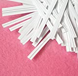 "Easytle 5"" Paper White Twist Ties 100 Pcs"