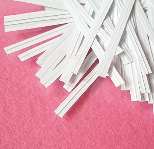 Easytle 5'' Paper White Twist Ties 100 Pcs