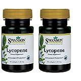 Swanson Lycopene 20 Milligrams 60 Sgels 2 Pack