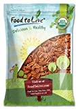 Food to Live Organic Pecans (Raw, No Shell, Kosher) (9 Pounds)