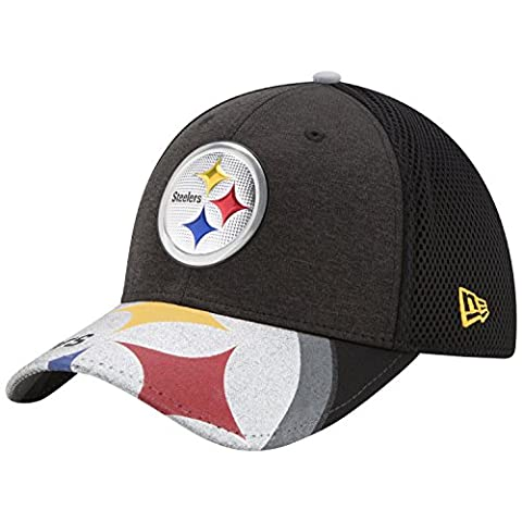 NFL Pittsburgh Steelers 2017 Draft On Stage 39Thirty Stretch Fit Cap, Medium/Large, Black - Pittsburgh Steelers Logo Nylon