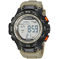 Armitron Sport Men's 40/8410OGN Digital Chronograph Olive Green Resin Strap Watch