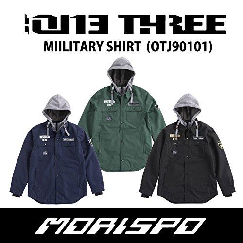 ONE THREE ワンスリー MILITARY SHIRT JACKET OTJ90101 17-18 スノーボードウエア メンズジャケット 009[黒] Medium