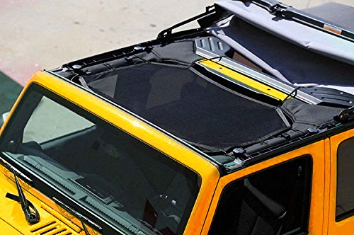 Sunshade for Jeep Wrangler JK 2007~2016 Mesh Bikini Top Cover Provides UV Protection