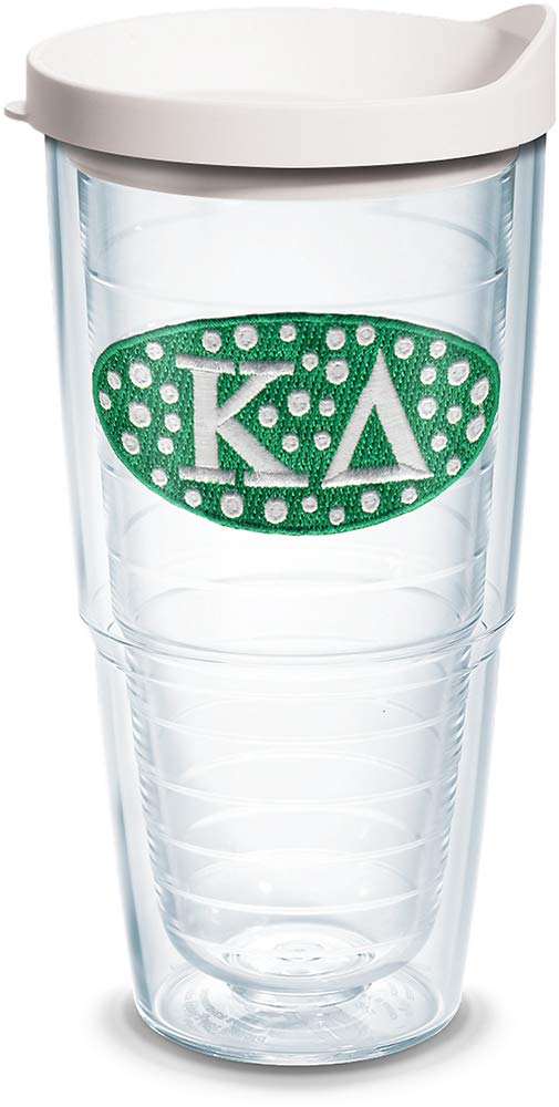 Tervis 1079248 Sorority - Kappa Delta Tumbler with Emblem and White Lid 24oz, Clear