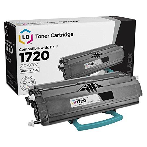 1720dn Printer - LD Refurbished Toner to replace Dell 310-8702 (GR332) Black Toner Cartridge for your Dell 1720 Laser printer