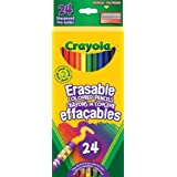 Crayola 24 Erasable Coloured Pencils, Adult Colouring Pencil Crayons, Bullet Journaling, School and Craft Supplies, Drawing Gift for Boys and Girls, Kids, Teens Ages 5, 6,7, 8 and Up, Back to school, School supplies, Arts and Crafts,  Gifting