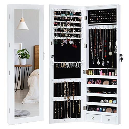 Giantex Door Wall Jewelry Cabinet Armoire Mounted