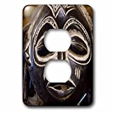 3dRose lsp_69536_6 South Africa, Durban, Zulu tribe mask Plug Outlet Cover