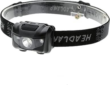 Ausein Linterna Frontal LED Linterna Cabeza, Súper Ligera (42g), 4 Modos de Luz, IPX4 Impermeable, 3 Pilas AAA No Incluidas,Frontal LED para Correr, Caminar, Acampar, Pescar, Niños (Negro)