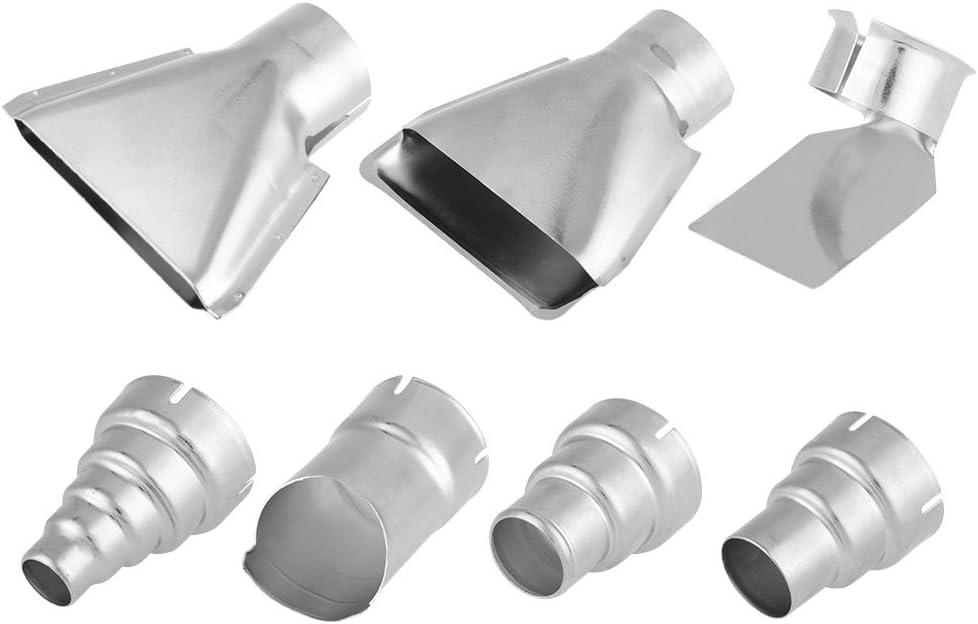 Boquilla de Pistola de Calor de 35 mm, Kit de Boquilla de Pistola de Aire Caliente 7 Piezas Reemplazo de Accesorios de Boquillas Resistentes al Calor para Estación de Soldadura de Aire Caliente