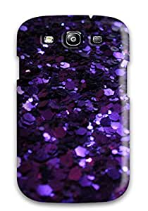 Forever Collectibles Glittery Dark Purple Hard Snap-on Galaxy S3 Case