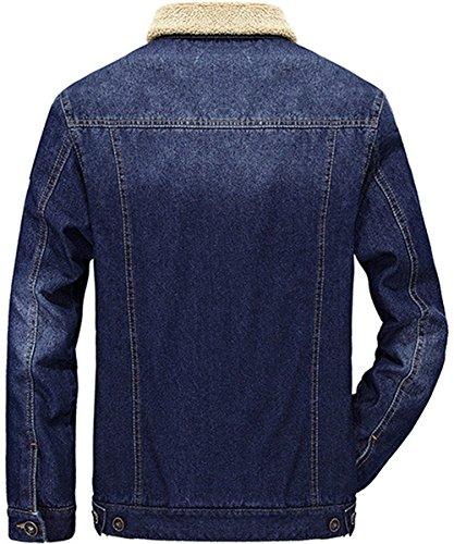 Retro Minetom Jacket Casual Jeans Outwear Manica Blu Caldo Giacca Inverno A Da Lunga Parka Giacche Capispalla Uomo 64PE4r