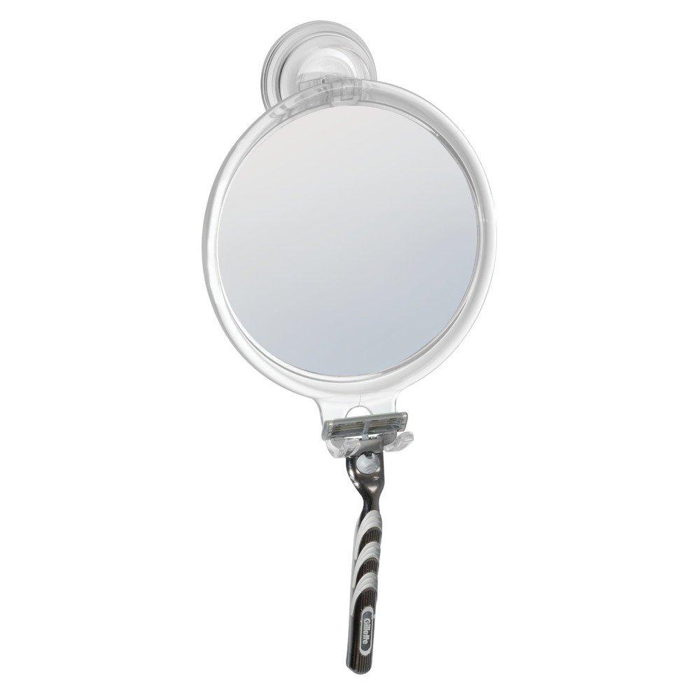 Great Amazon.com: InterDesign Power Lock Suction Shaving Mirror For Shower Or  Bathroom U2013 Circular Mirror With Razor Holder, Clear: Home U0026 Kitchen