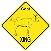 Goat Boer Xing caution Crossing Sign farm animal Gift