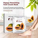 [5 Value Pairs] MOND'SUB Moisturizing Feet Masks - Professional Baby Feet & Spa Quality Feet Treatment Socks For Cracked Heels and Dry Feet Skin - Deeply Repair With Natural Papaya Oil