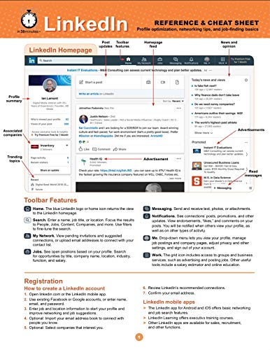 LinkedIn Reference and Cheat Sheet: Profile optimization, networking tips, and job-finding basics