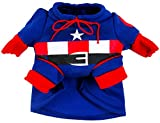 pet costume captain america - Woo Woo Pets New Arrival Captain America Winter Pet Costume XL