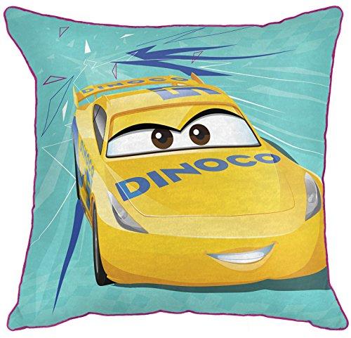 Disney Nemo Car (Disney/Pixar Cars 3 Movie Cruz Retro Teal/Yellow Decorative Toss/Throw Pillow with Cruz Ramirez (Official Disney/Pixar Product))