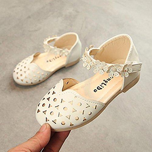 Prevently Kinderschuhe Kinder Kleine Blume Sandalen Schuhe Baby Mode Sneaker Kind Mädchen Casual Sandalen Floral Leder Prinzessin Schuhe Weiß